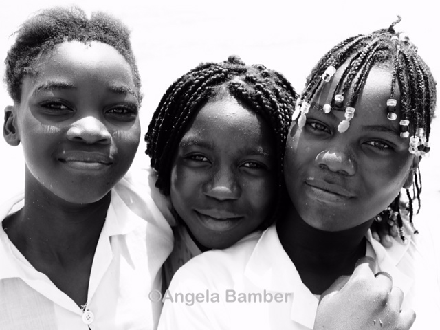 Schoolgirls in Angola